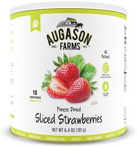 Augason Farms Freeze Dried & Sliced Strawberries