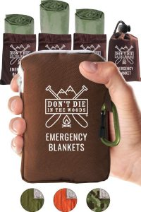 Don't Die In The Woods Thermal Blankets