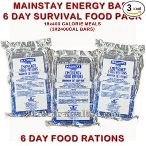 Mainstay Food Rations 2400 Calorie Bars
