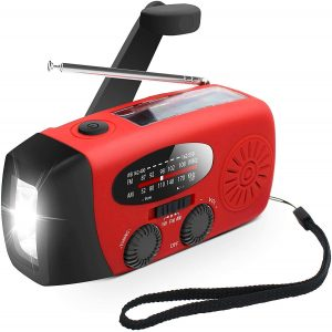 Maokot Red 3-Way Powered Survival Radio