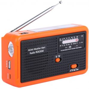 Molebit Radio Self Powered with Solar And Hand Crank