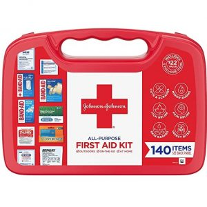 Portable Johnson & Johnson First Aid Kit