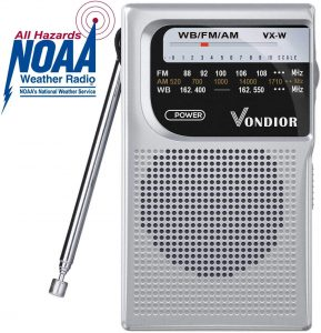Vondior Silver NOAA Weather Radio